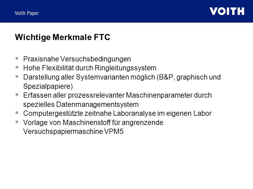 Wichtige Merkmale FTC Praxisnahe Versuchsbedingungen