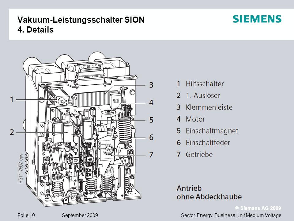 Vakuum-Leistungsschalter SION 4. Details