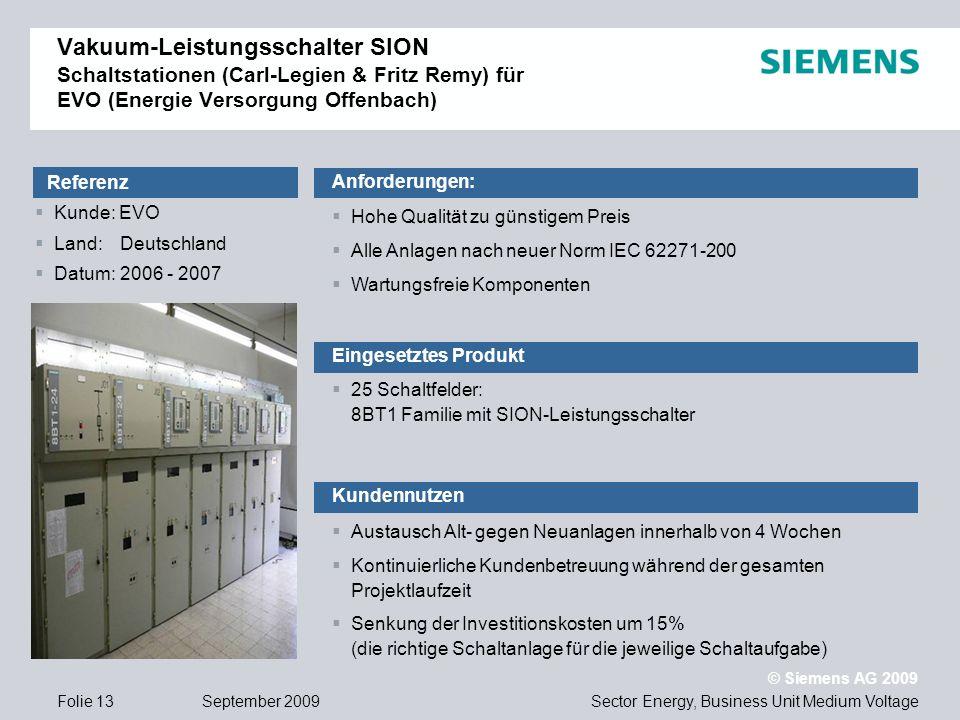 Vakuum-Leistungsschalter SION Schaltstationen (Carl-Legien & Fritz Remy) für EVO (Energie Versorgung Offenbach)