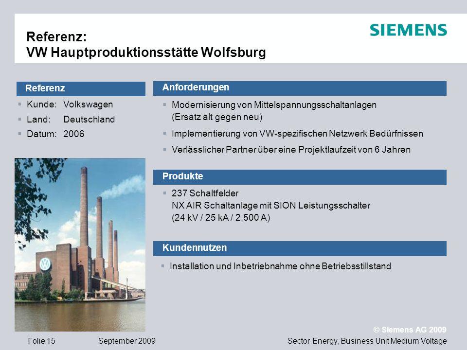 Referenz: VW Hauptproduktionsstätte Wolfsburg