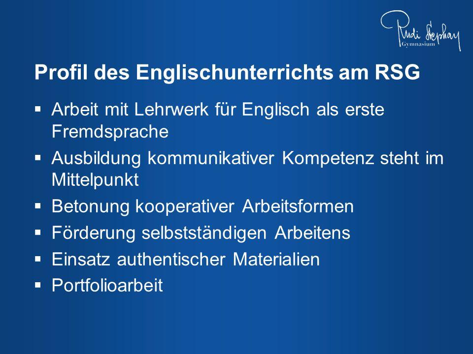 Profil des Englischunterrichts am RSG