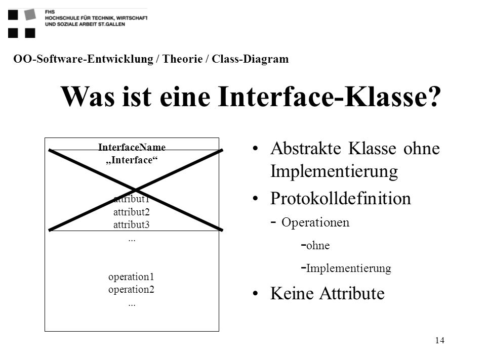 "Was ist eine Interface-Klasse InterfaceName ""Interface"
