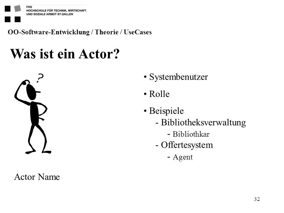 Was ist ein Actor Systembenutzer Rolle