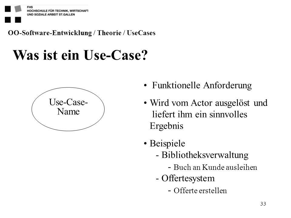Was ist ein Use-Case Funktionelle Anforderung