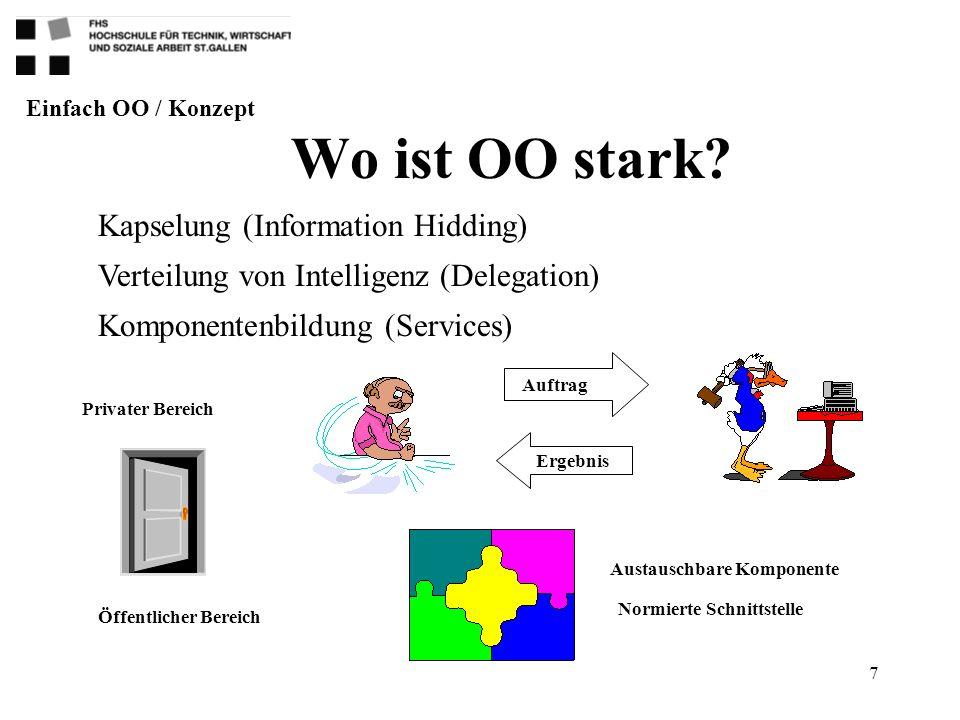 Wo ist OO stark Kapselung (Information Hidding)