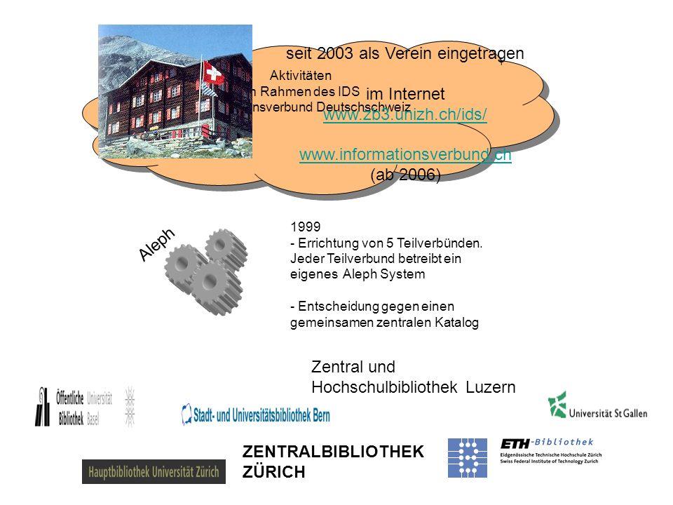 Aktivitäten im Rahmen des IDS Informationsverbund Deutschschweiz