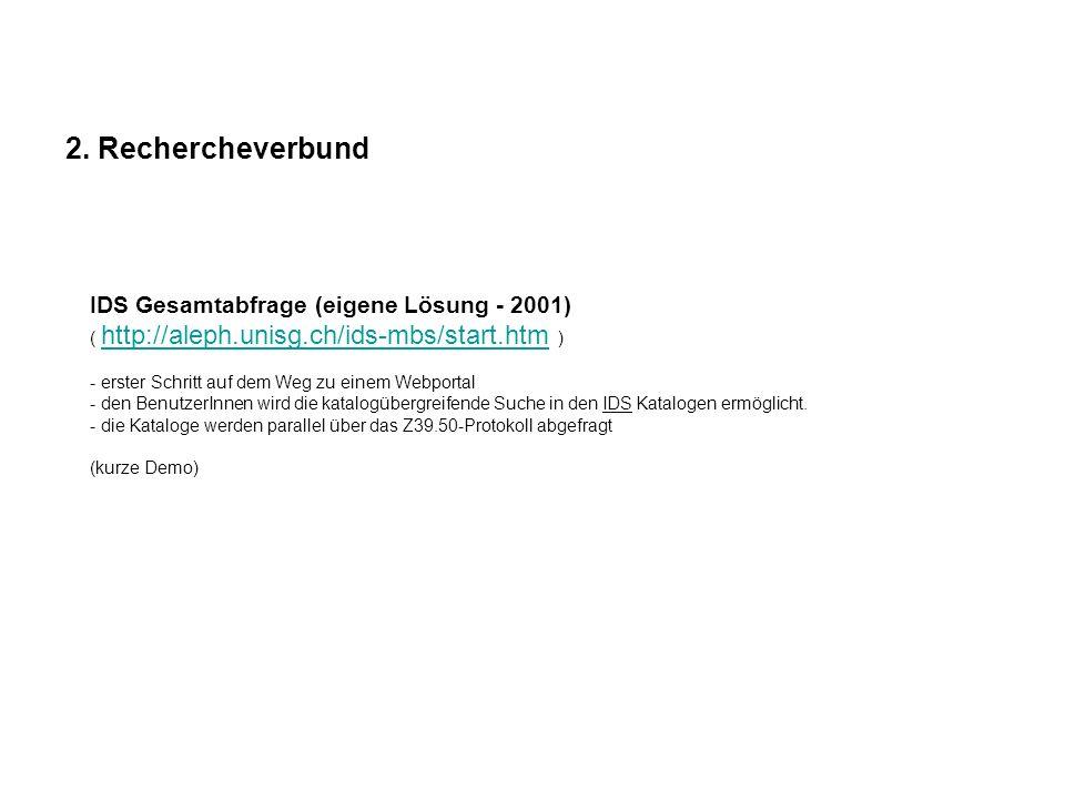 2. Rechercheverbund