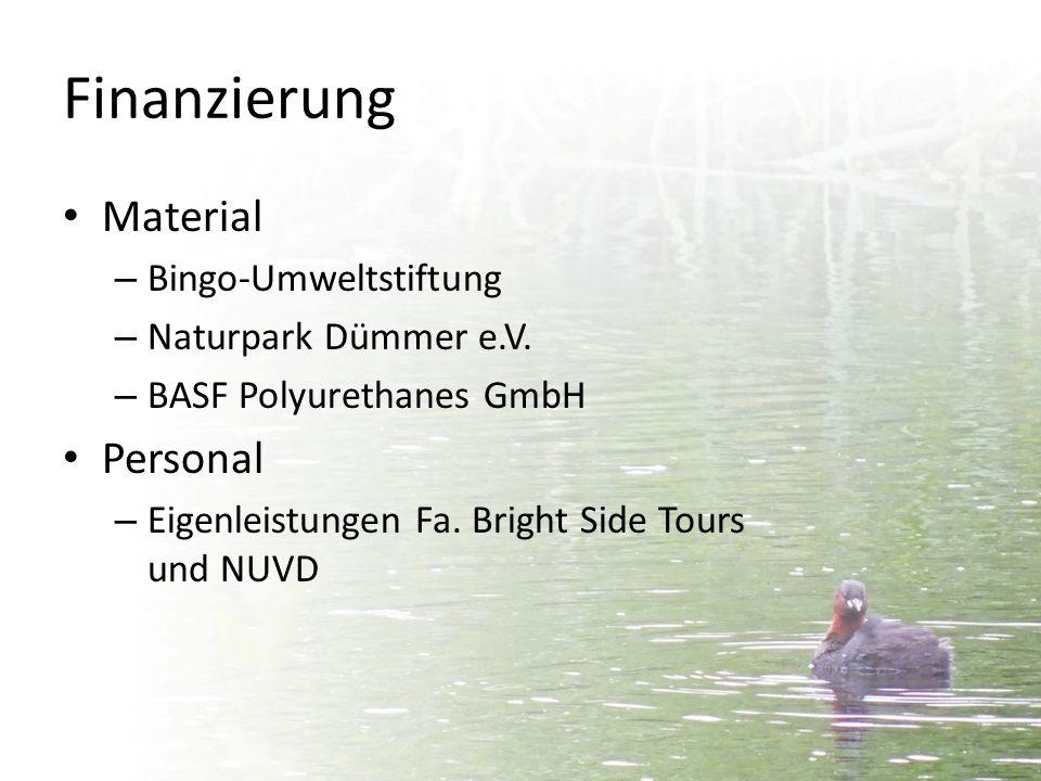 Finanzierung Material Personal Bingo-Umweltstiftung