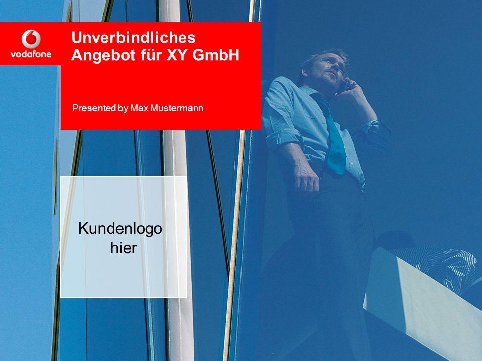 Unverbindliches Angebot für XY GmbH Presented by Max Mustermann
