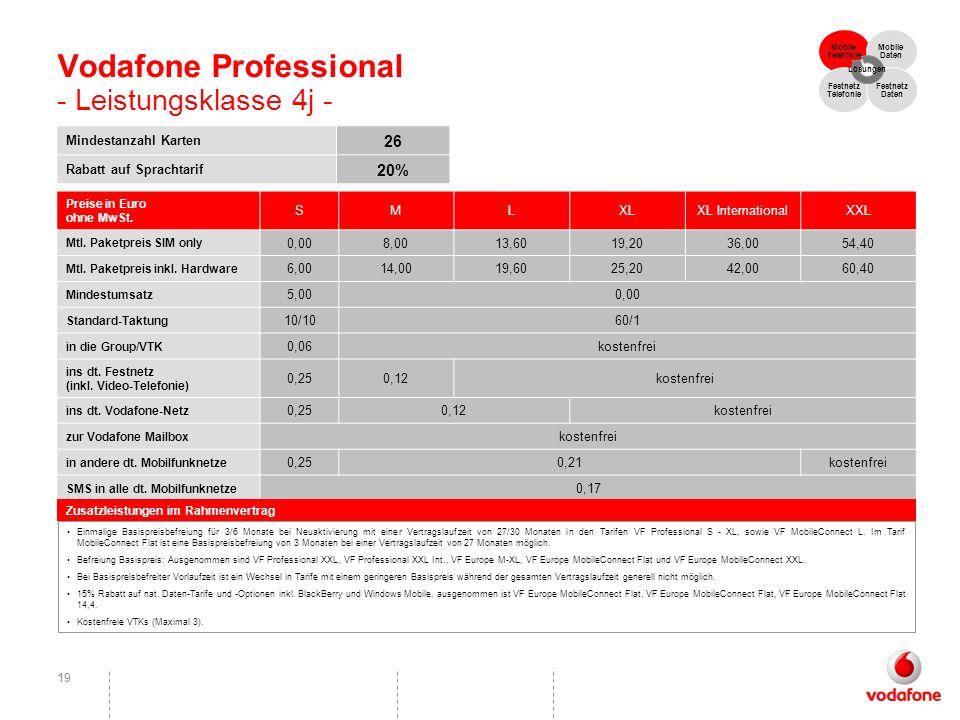 Vodafone Professional - Leistungsklasse 4j -