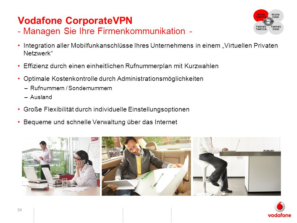 Vodafone CorporateVPN - Managen Sie Ihre Firmenkommunikation -