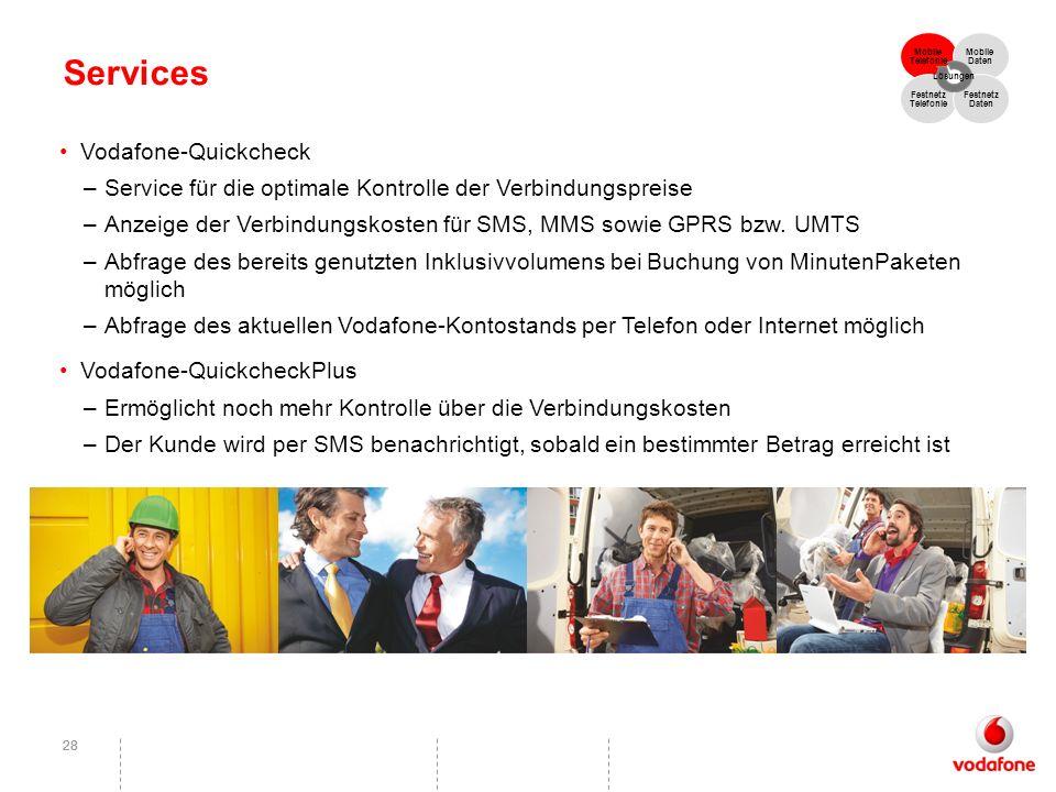 Services Vodafone-Quickcheck