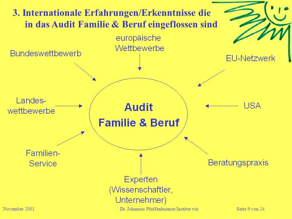 3. Internationale Erfahrungen/Erkenntnisse die in das Audit Familie & Beruf eingeflossen sind