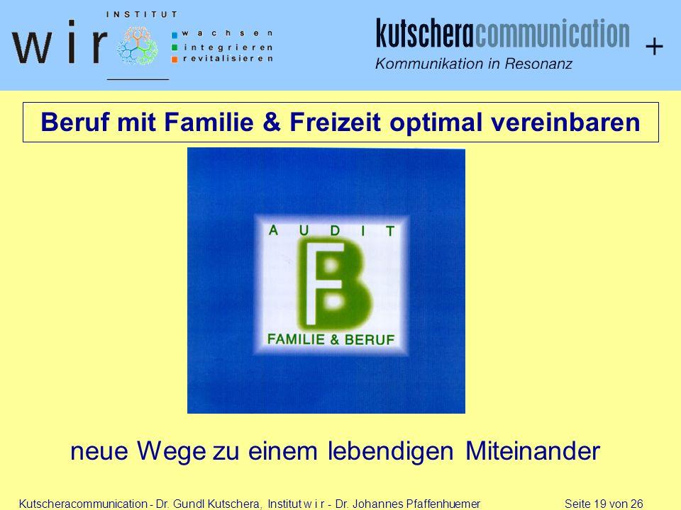 Beruf mit Familie & Freizeit optimal vereinbaren