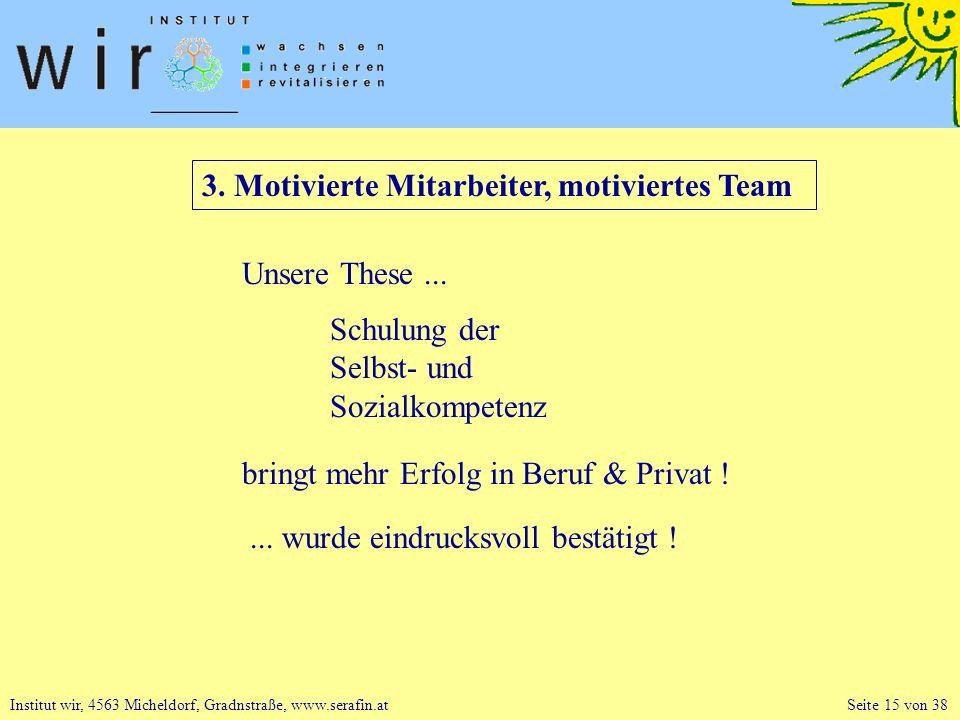 3. Motivierte Mitarbeiter, motiviertes Team