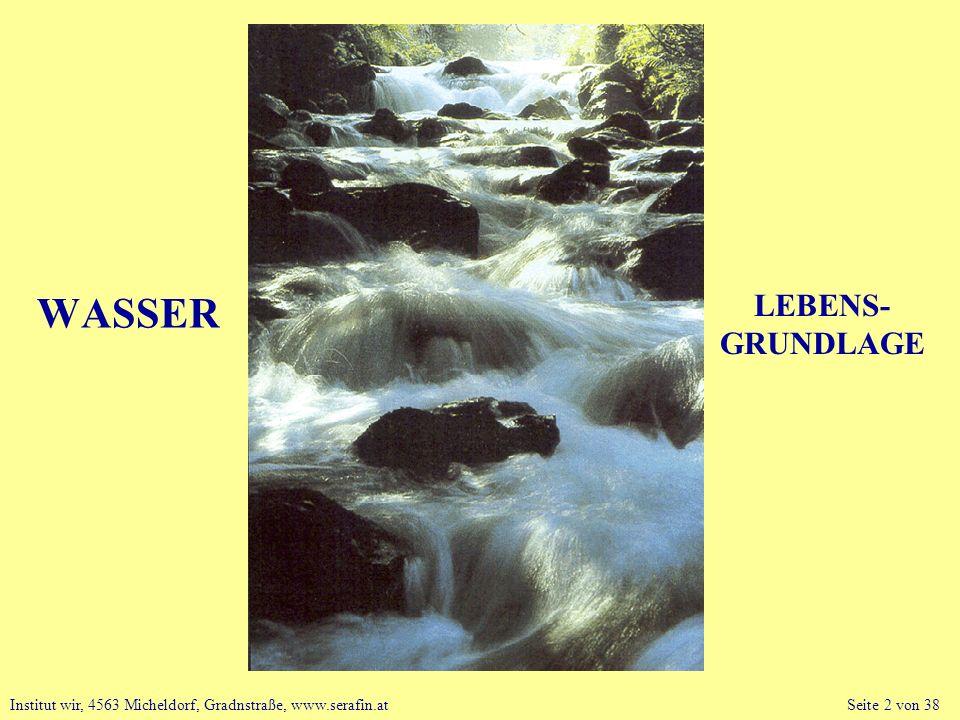 WASSER LEBENS- GRUNDLAGE