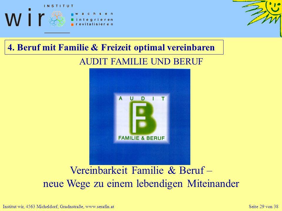 4. Beruf mit Familie & Freizeit optimal vereinbaren
