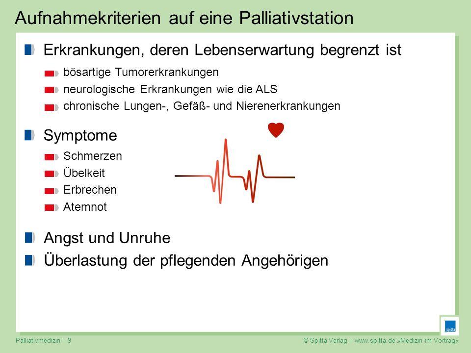 Aufnahmekriterien auf eine Palliativstation