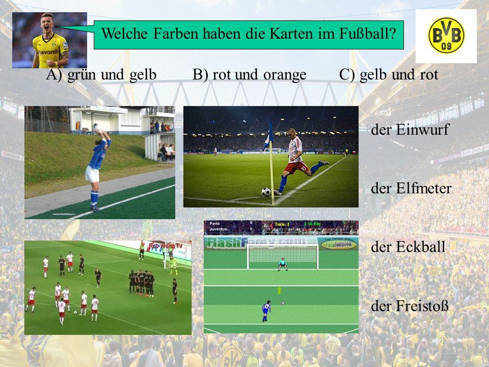 Welche Farben haben die Karten im Fußball