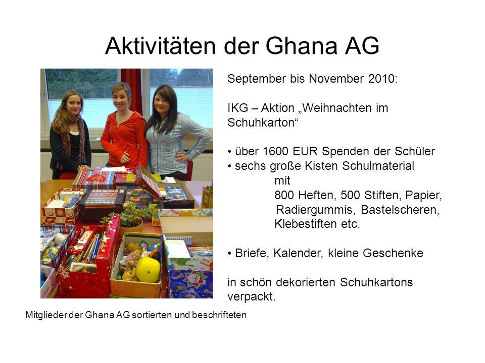 Aktivitäten der Ghana AG