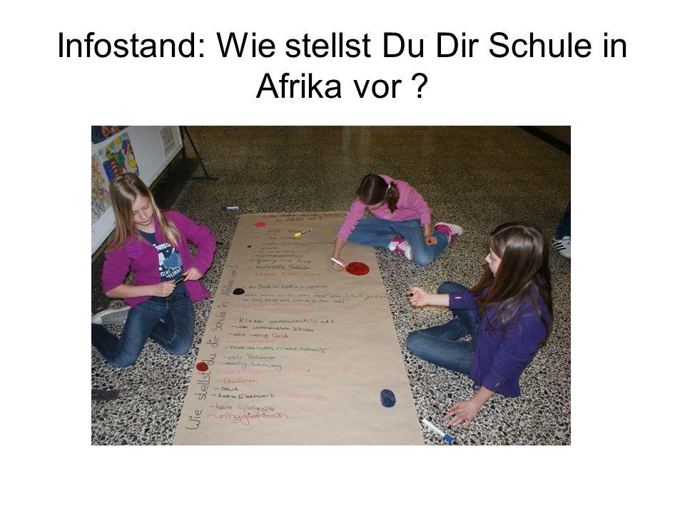 Infostand: Wie stellst Du Dir Schule in Afrika vor