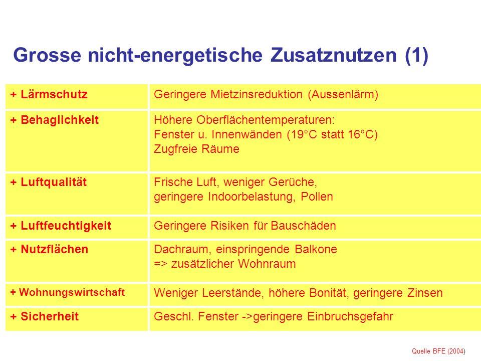 Grosse nicht-energetische Zusatznutzen (1)