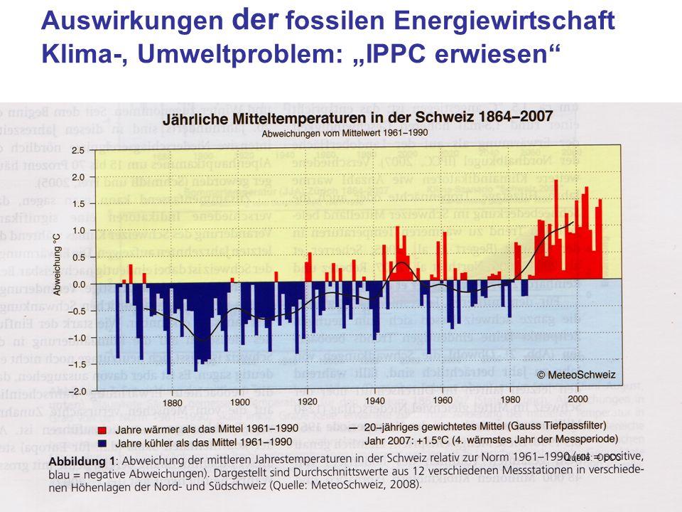 """Auswirkungen der fossilen Energiewirtschaft Klima-, Umweltproblem: """"IPPC erwiesen"""