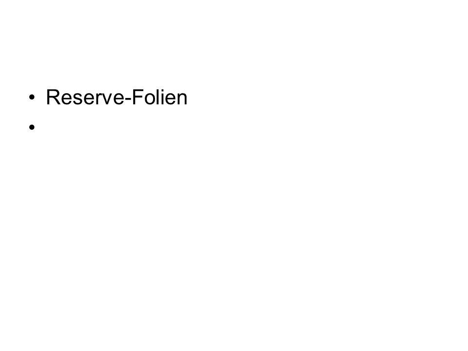 Reserve-Folien