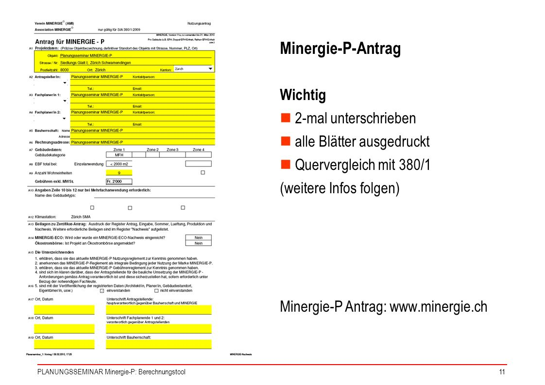 Minergie-P-Antrag Wichtig 2-mal unterschrieben