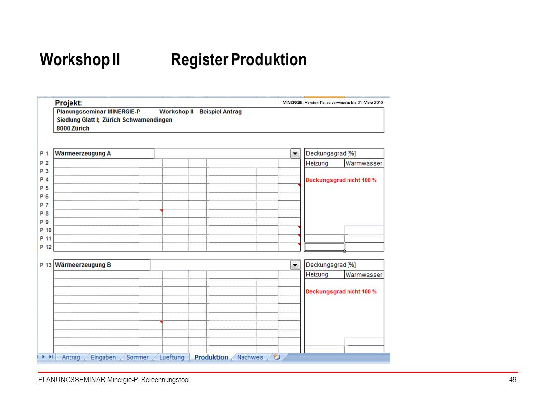 Workshop II Register Produktion