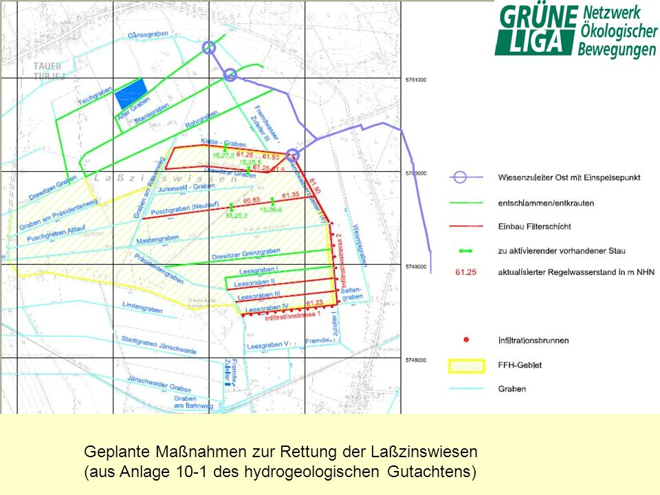 Geplante Maßnahmen zur Rettung der Laßzinswiesen
