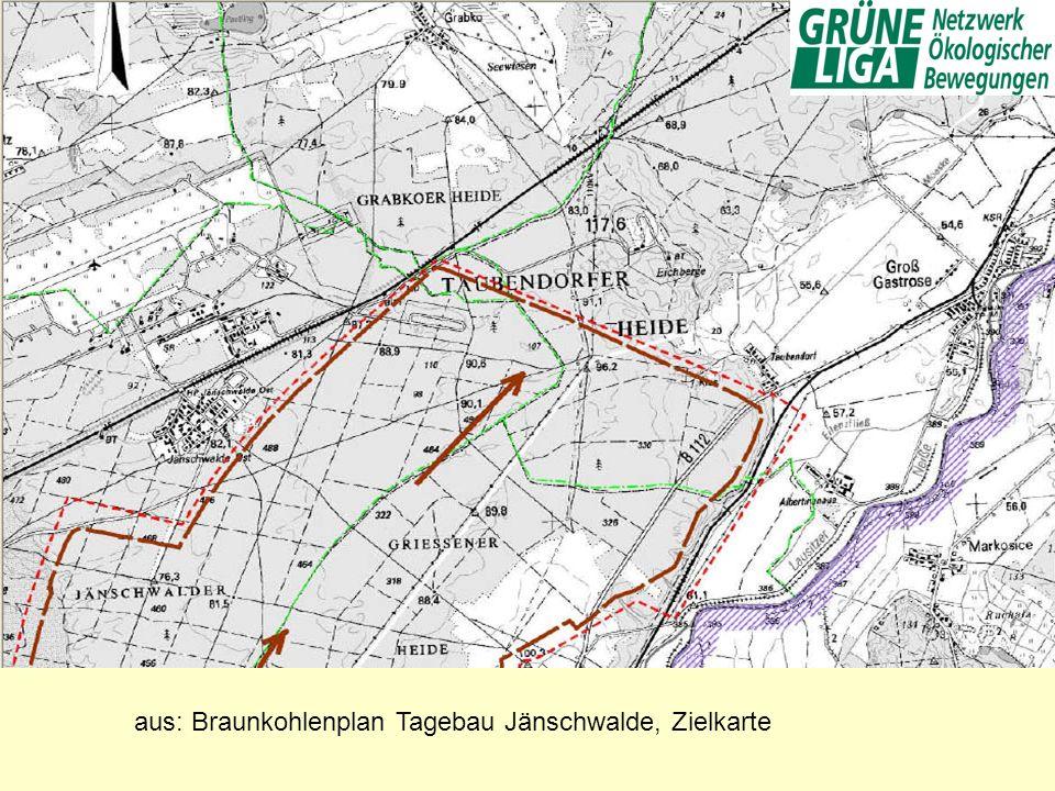 aus: Braunkohlenplan Tagebau Jänschwalde, Zielkarte