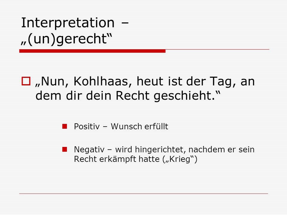 "Interpretation – ""(un)gerecht"