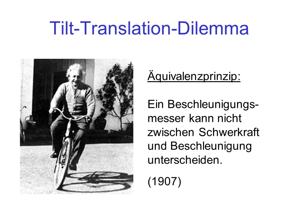 Tilt-Translation-Dilemma