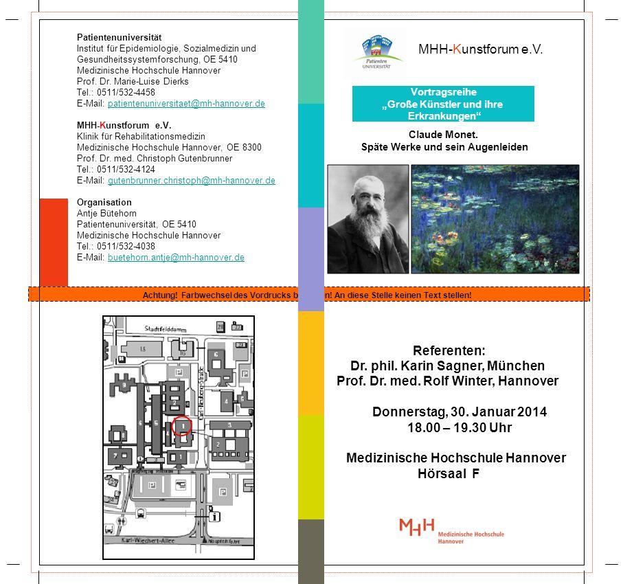 Dr. phil. Karin Sagner, München Prof. Dr. med. Rolf Winter, Hannover