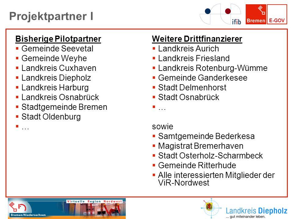 Projektpartner I Bisherige Pilotpartner Gemeinde Seevetal