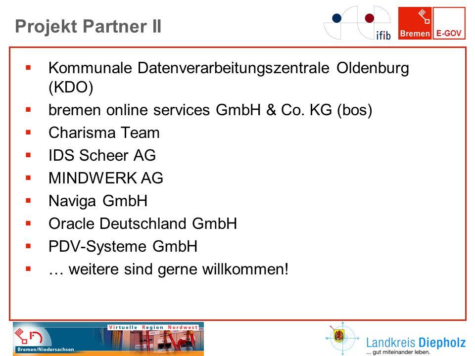 Projekt Partner II Kommunale Datenverarbeitungszentrale Oldenburg (KDO) bremen online services GmbH & Co. KG (bos)