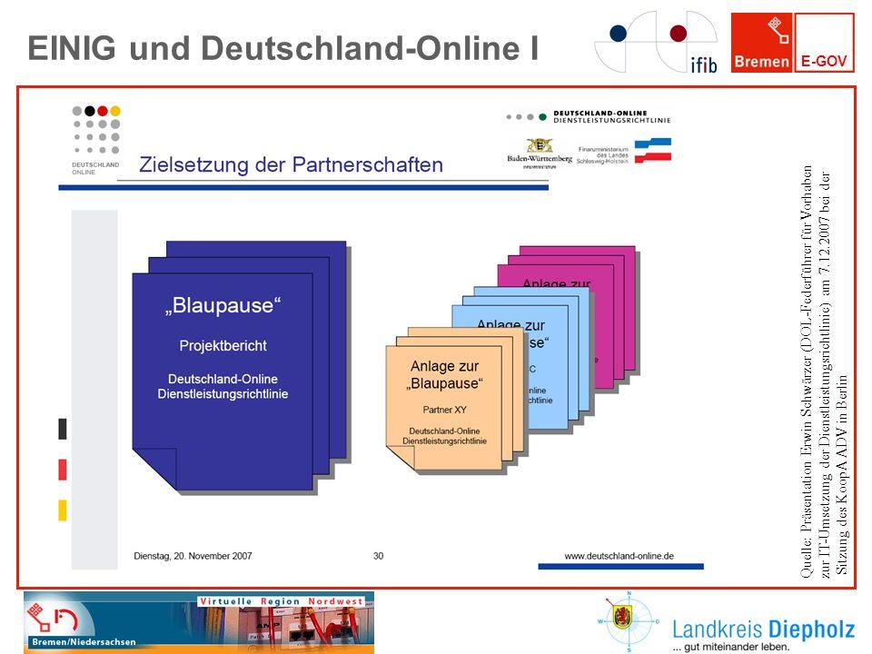 EINIG und Deutschland-Online I