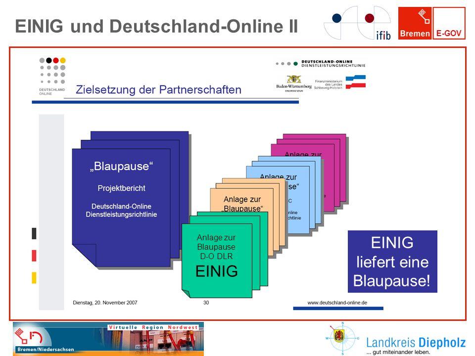 EINIG und Deutschland-Online II