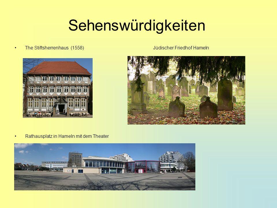 Sehenswürdigkeiten The Stiftsherrenhaus (1558) Jüdischer Friedhof Hameln.