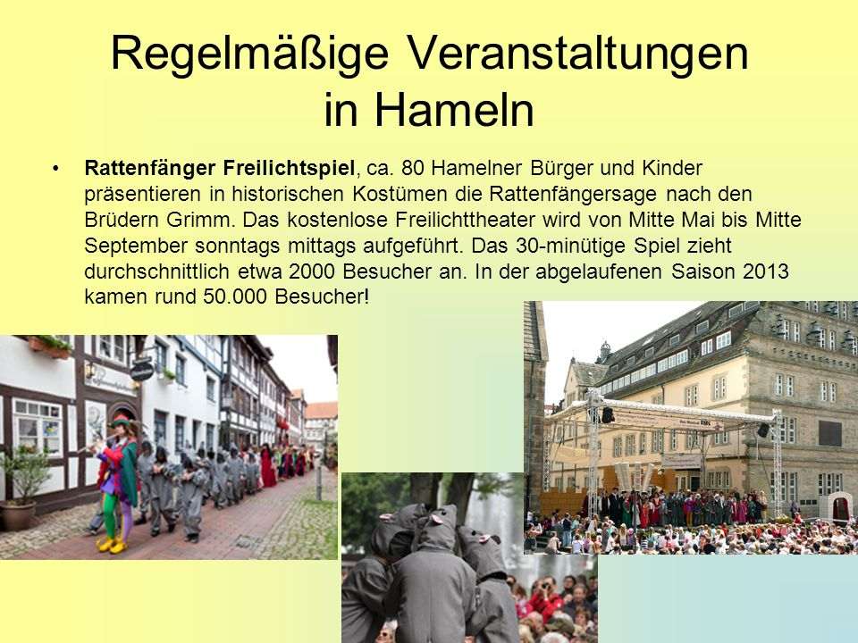 Regelmäßige Veranstaltungen in Hameln