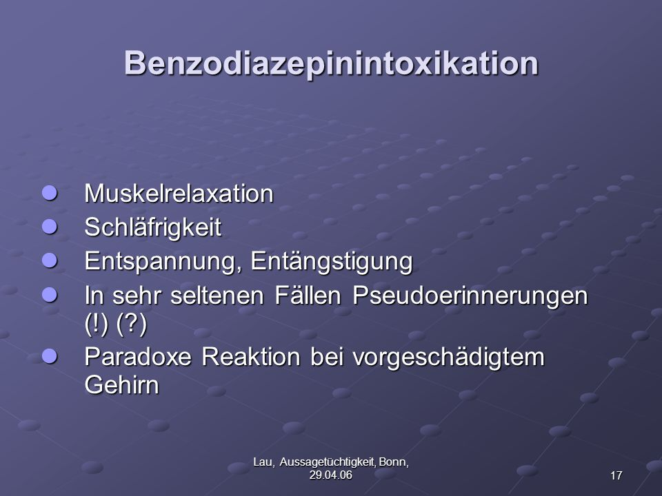 Benzodiazepinintoxikation