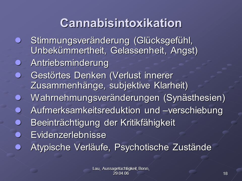Cannabisintoxikation
