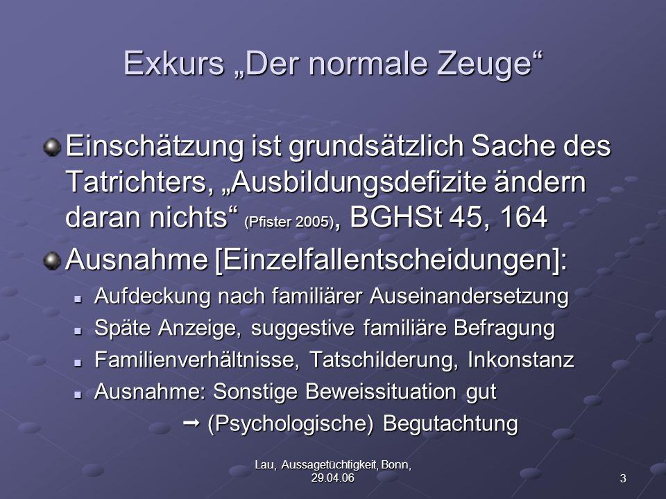 """Exkurs """"Der normale Zeuge"""
