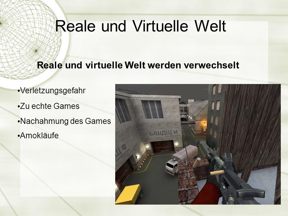 Reale und virtuelle Welt werden verwechselt