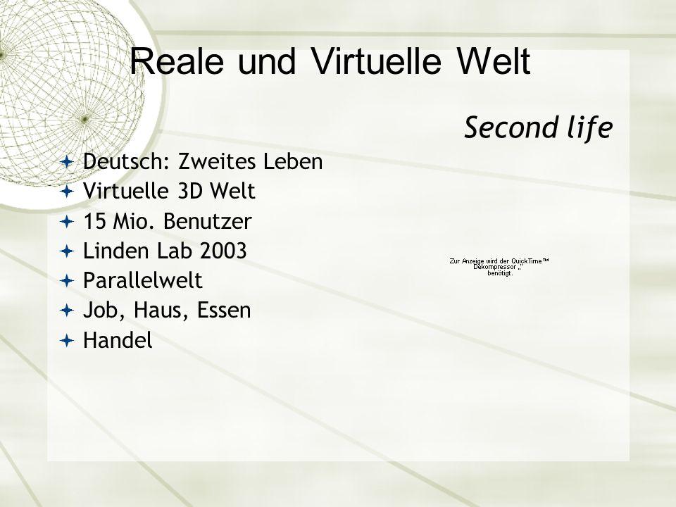 Second life Deutsch: Zweites Leben Virtuelle 3D Welt 15 Mio. Benutzer