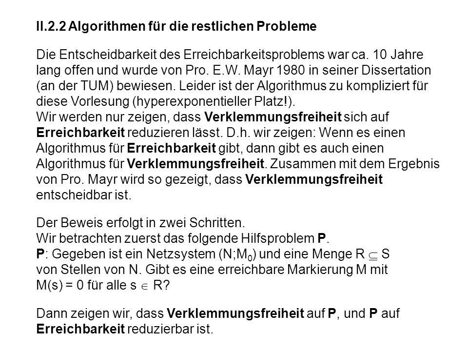 II.2.2 Algorithmen für die restlichen Probleme