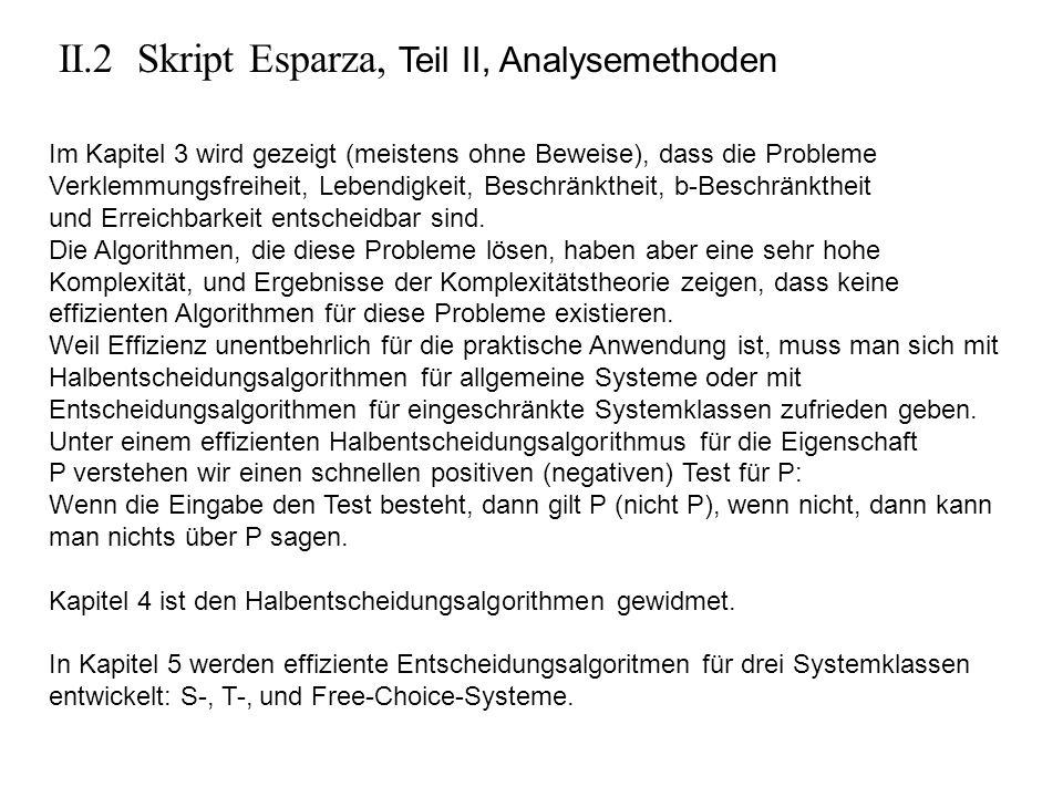 II.2 Skript Esparza, Teil II, Analysemethoden