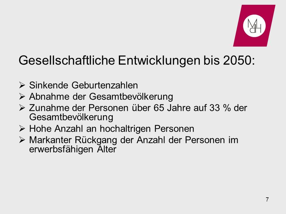 Gesellschaftliche Entwicklungen bis 2050: