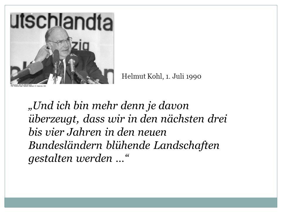 Helmut Kohl, 1. Juli 1990